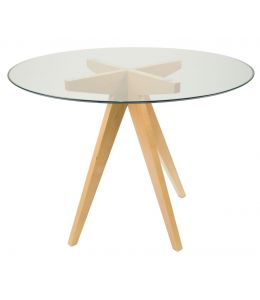 Replica Jean Prouve Inspired Dining Table | Glass | 100cm