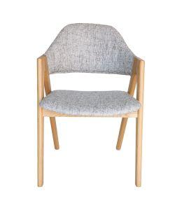 Replica Kai Kristiansen Compass Chair | Textured Light Grey & Natural