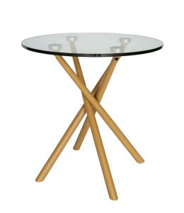 Weber Collection   Round Glass Side Table