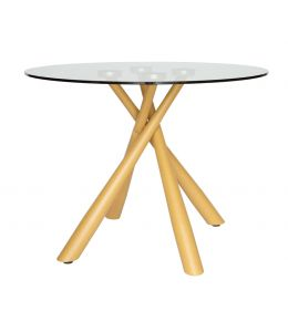Weber Collection | Round Glass Dining Table | 100cm