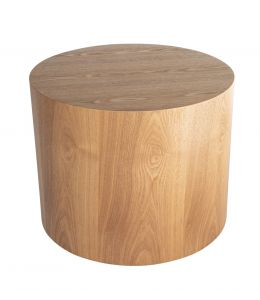 Woody Round Wood Side Table