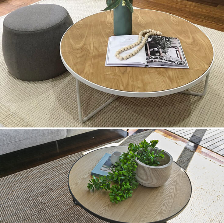Luna Round Wood Coffee Table