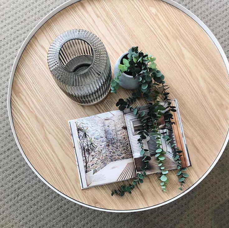 Lunar Round Wood Coffee Table