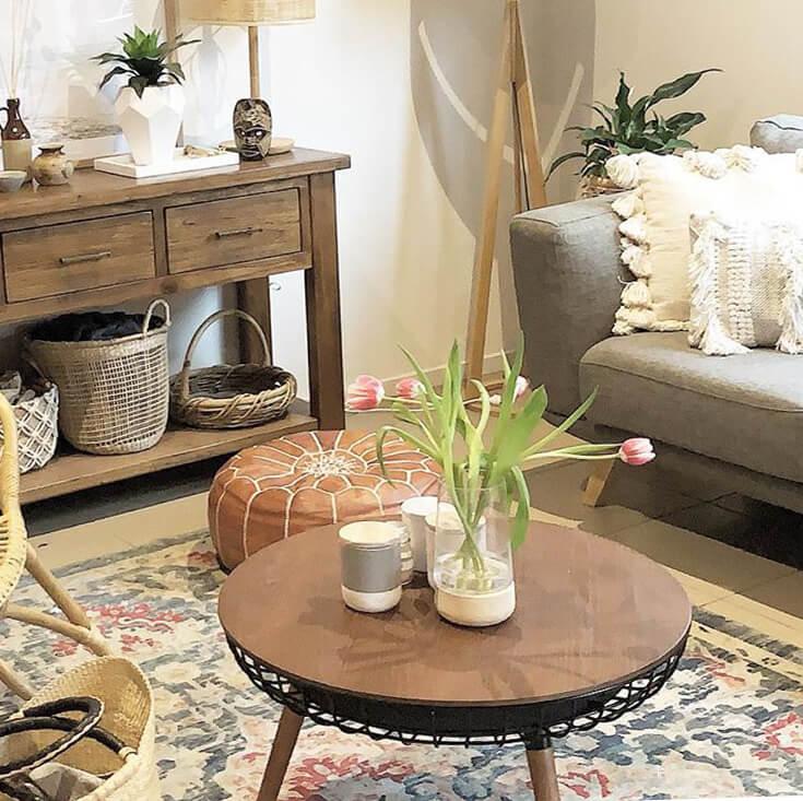 Massa Round Wood Coffee Table