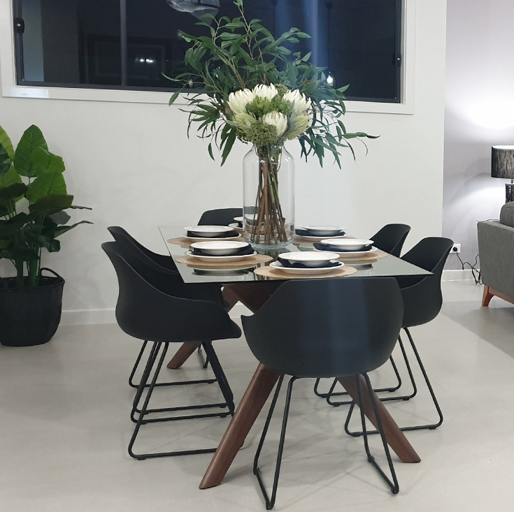 Murf Collection | Rectangular Glass Dining Table | 180cm