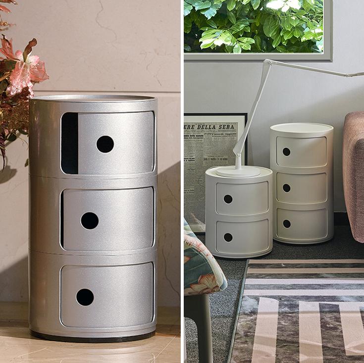 Replica Anna Castelli Ferrieri Componibili Round Storage Unit | 3 Tier | White