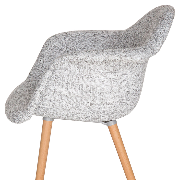 Replica Eames DAW Hal Inspired Chair | Fabric | Natural