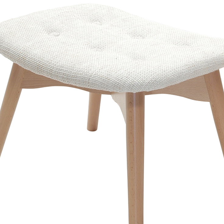 Replica Grant Featherston Ottoman | Fabric | Natural Legs