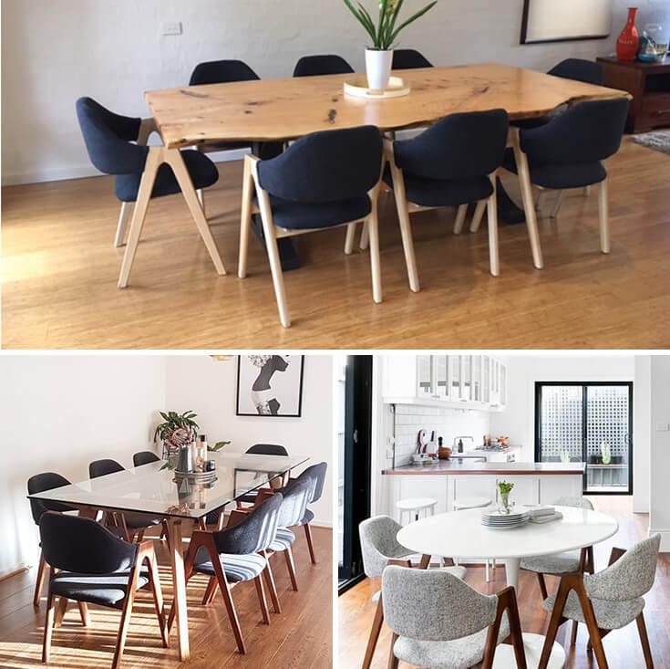 Replica Kai Kristiansen Compass Chair   Grey / Charcoal & Natural