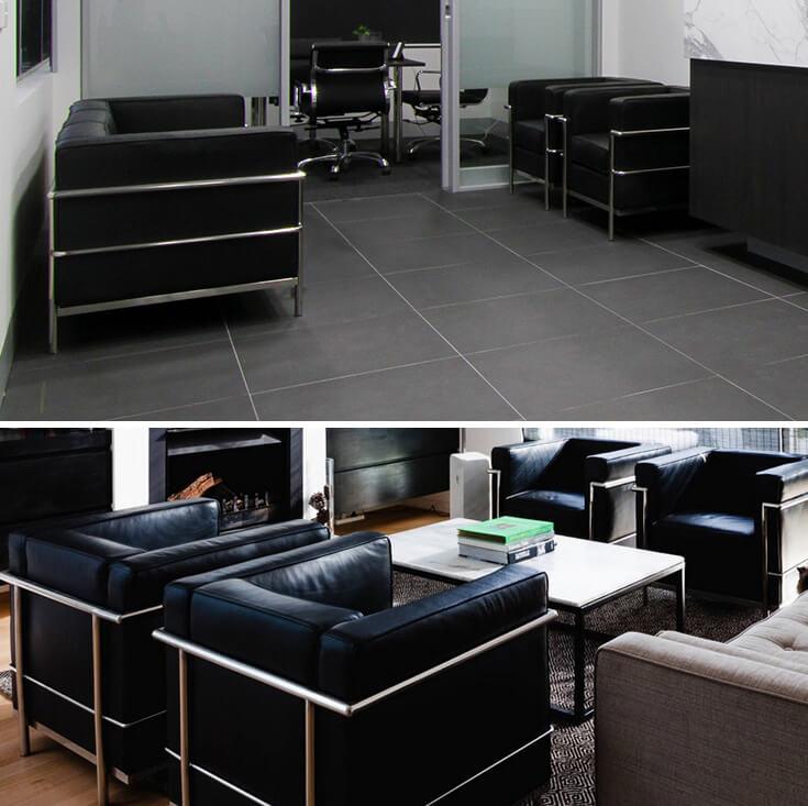 Replica Le Corbusier Arm Chair | Black