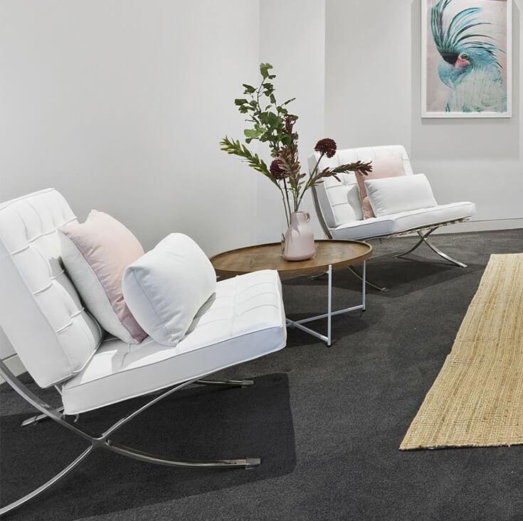 Replica Mies Van De Rohe Barcelona Lounge Chair Single Seat
