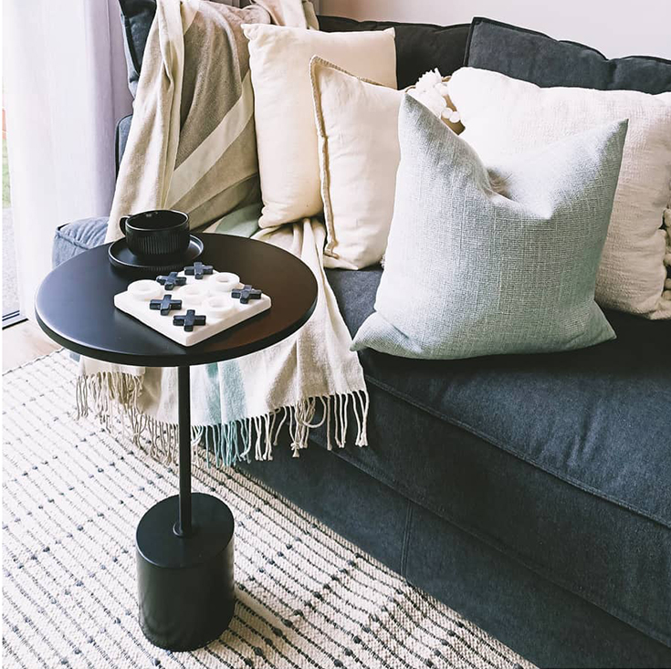 Nora Round Side Table | Black