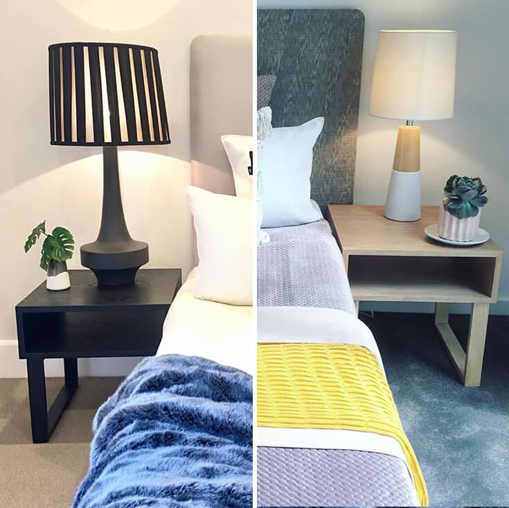 Olle Square Wood Bedside / Side Table | Natural | 50cm