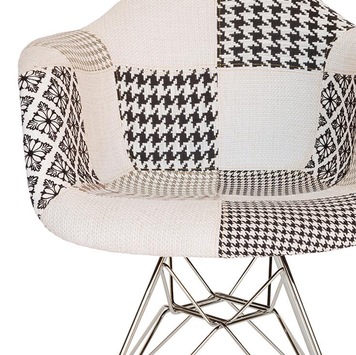 Replica Eames DAR Eiffel Chair | Fabric Seat | Chrome Legs