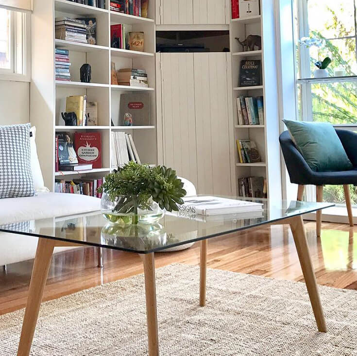 Stad Rectangle Glass Coffee Table