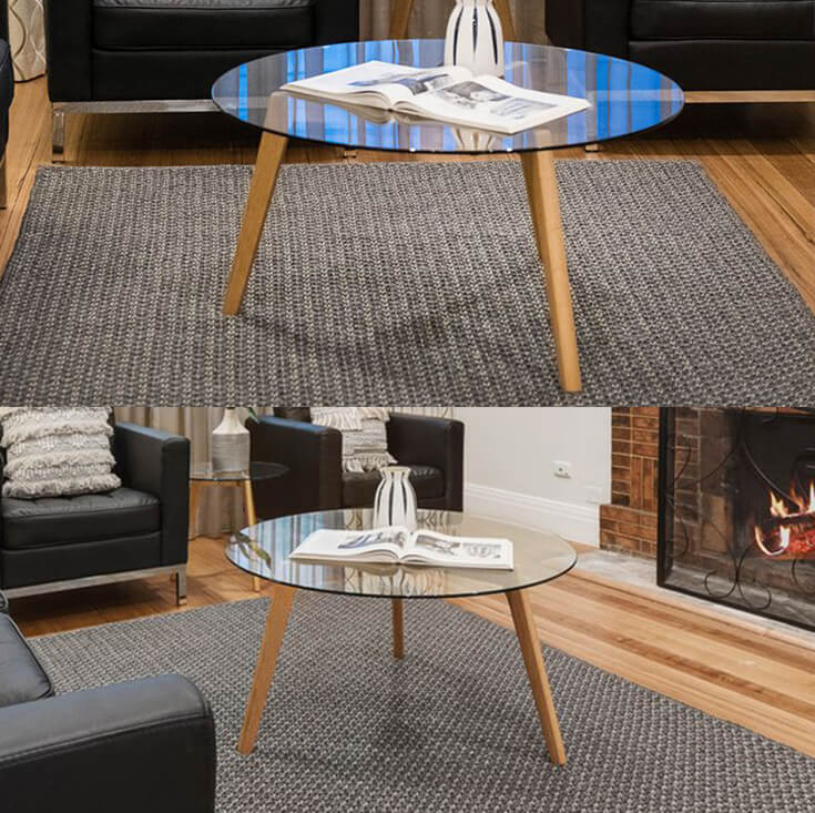 Stad Round Glass Coffee Table