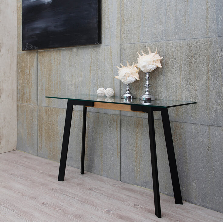 Vox Collection | Rectangular Glass Console Table
