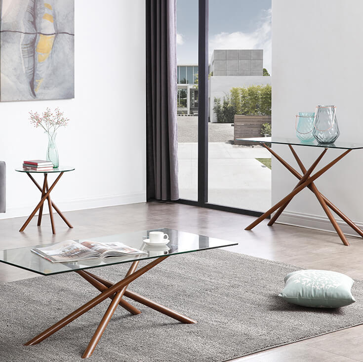 Weber Collection | Round Glass Side Table